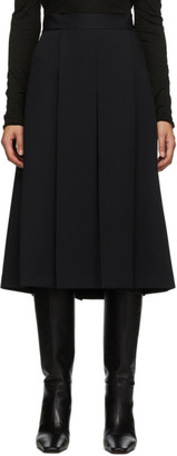 System Navy Pleated Skirt