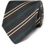 Drakes Drake's - Easyday 7cm Striped Silk Tie - Navy