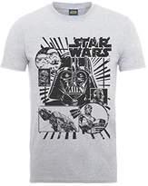 Star Wars Men's Vader Distressed Short Sleeve T-Shirt