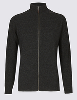 M&S Collection Funnel Neck Zipped Through Cardigan
