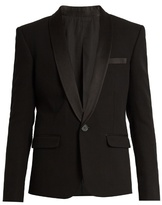 Balmain Satin-lapel Single-breasted Tuxedo Jacket