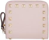 Valentino Pink Small Rockstud Wallet