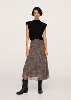 Thumbnail for your product : MANGO Fluid midi skirt