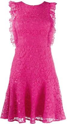 Pinko flared lace mini dress