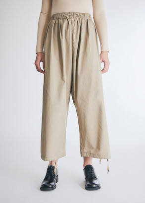 Engineered Garments Women's Balloon Pant in Khaki High Count Twill, Size 1 | 100% Cotton