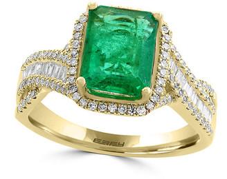 Effy Fine Jewelry 14K 2.68 Ct. Tw. Diamond & Emerald Ring