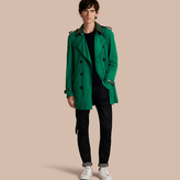 Burberry Packaway Trench Coat With Detachable Lambskin Collar , Size: 54, Green