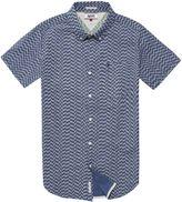 Tommy Hilfiger Men's Tommy Denim Geometric Print Shirt