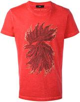 Diesel feathers print T-shirt - men - Cotton - L
