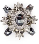 Kenneth Jay Lane Glass crystal rhodium plated brooch