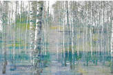 Parvez Taj Teal Tree Forest Canvas Wall Art