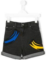 Stella McCartney patch denim shorts - kids - Cotton/Spandex/Elastane - 8 yrs