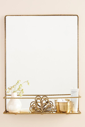 Anthropologie Francis Shelved Mirror By in Brown Size M