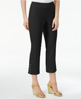 JM Collection Lace-Up-Hem Capri Pants, Only at Macy's