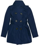 Urban Republic Big Girls Ruffle Trim Belt Double Breasted Coat