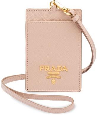 Prada Logo-Plaque Lanyard Cardholder