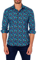 Jared Lang Stamp Print Trim Fit Shirt