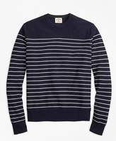 Brooks Brothers Picasso-Stripe Cotton-Cashmere Sweater