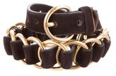 Miu Miu Leather Chain-Link Belt