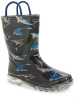 Western Chief Shark City LED Rain Boot (Toddler & Little Kid)