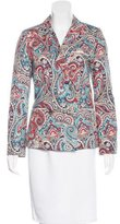 Sea Structured Paisley Print Blazer