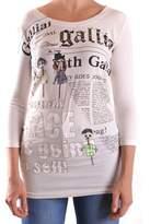 Galliano Women's White Cotton T-shirt.