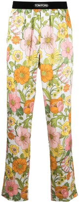 Tom Ford Floral Print Silk Pajama Trousers