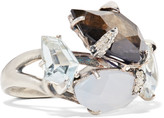 Alexis Bittar Sterling silver multi-stone ring