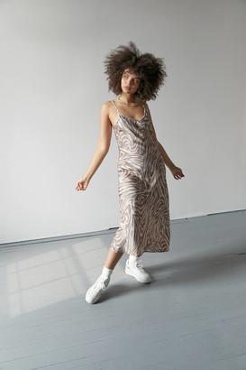 Dress Forum Printed Midi Slip Dress