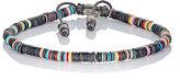 M. Cohen Men's Rondelle Bracelet-BLACK