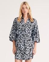 Veronica Beard Samy Puffed-Sleeve Dress