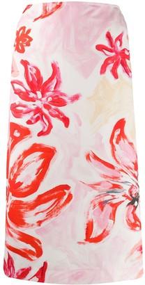 Marni High-Waisted Floral Print Skirt