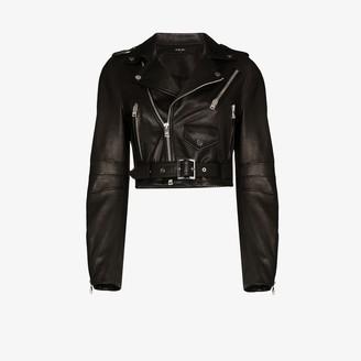 Amiri Cropped Leather Jacket