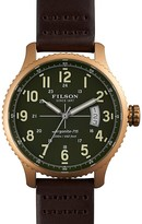 Filson The Mackinaw Field Leather Strap Watch, 43mm