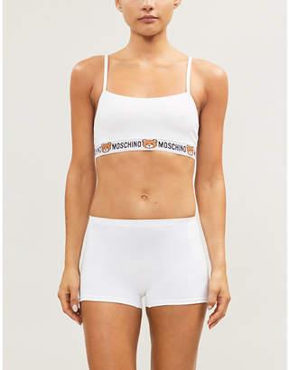 Moschino Underbear stretch-jersey bralette