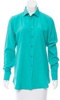 Loro Piana Silk Button-Up Top w/ Tags