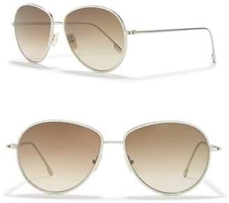 Victoria Beckham 58mm Aviator Sunglasses