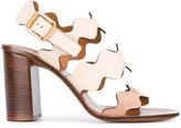 Chloé Lauren sandals - women - Calf Leather/Leather/Suede - 36.5