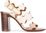 Chloé Lauren sandals - women - Calf Leather/Suede/Leather - 36.5