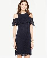 Ann Taylor Petite Cold Shoulder Lace Shift Dress