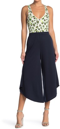 GOOD LUCK GEM High Waist Wide Leg Crop Pants