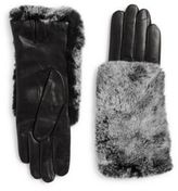 Carolina Amato Rabbit Fur Snow Top Gloves