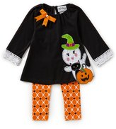 Rare Editions Little Girls 2T-6X Halloween Ghost Long-Sleeve Tunic & Patterned Leggings Set