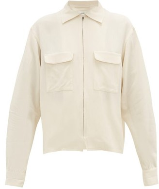 Lemaire Flap-pocket Crepe Jacket - Ivory