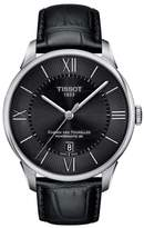 Tissot Chemin Des Tourelles Automatic Leather Strap Watch, 42mm
