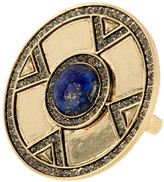 House Of Harlow Dorelia Coin Lapis Cocktail Ring - Size 6