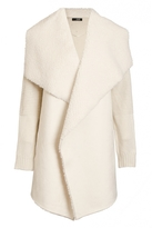 Quiz Cream Knit Suedette Waterfall Jacket