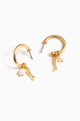 Pesce Pearl Hoop Earrings