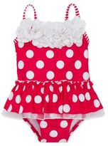 Little Me Babys One-Piece Polka-Dot Ruffled Swimsuit