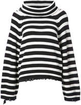 RtA oversized striped roll neck sweater